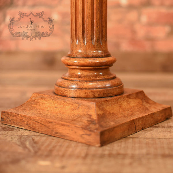 Late Victorian Walnut Torchere, Plant Stand c.1900 - London Fine Antiques - 4