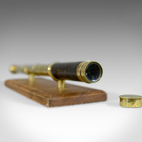 Antique Pocket Telescope, Three Draw, Refractor, English, Victorian, Circa 1900 - London Fine Antiques