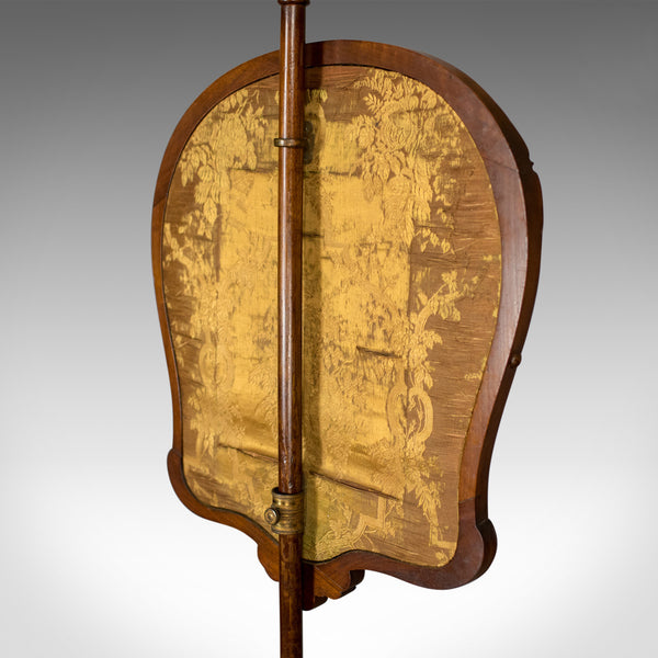 Antique Pole Screen, English, Victorian, Fire, Needlepoint, Tapestry Circa 1850 - London Fine Antiques