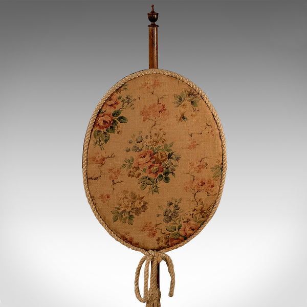Antique Pole Screen, English, Victorian, Mahogany, Needlepoint, Tapestry c.1880 - London Fine Antiques