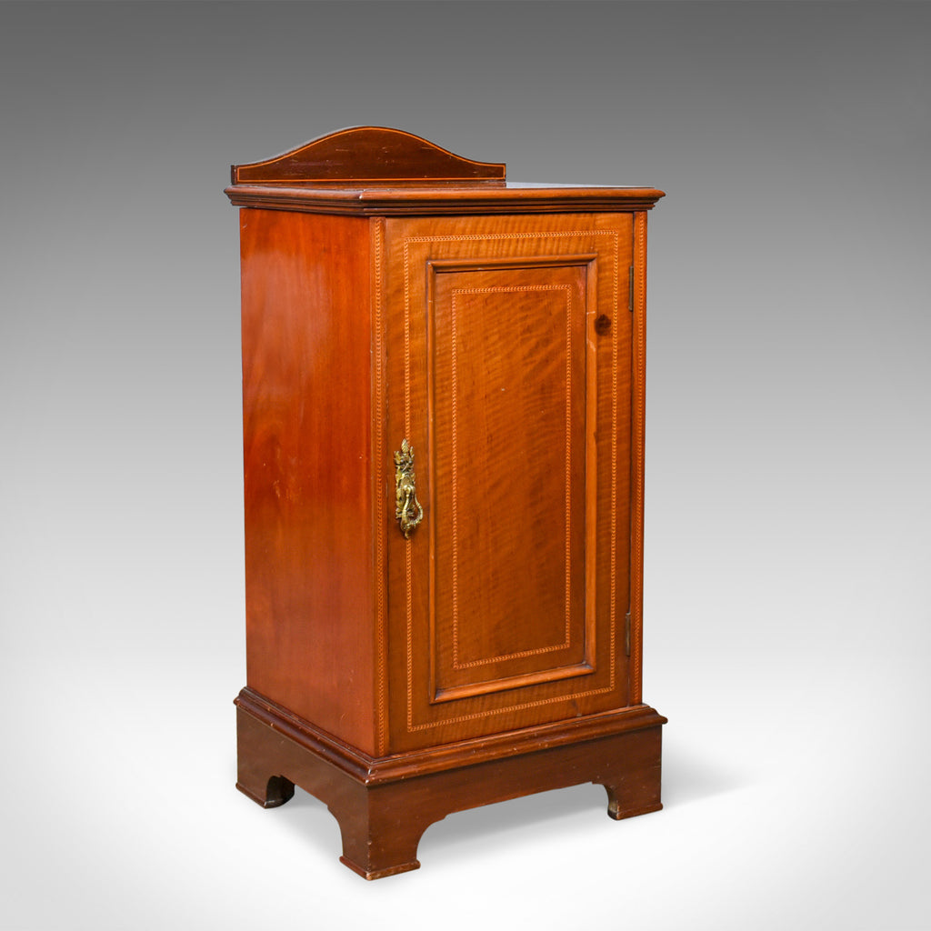 Antique Pot Cupboard, English, Edwardian, Walnut, Bedside Cabinet, Circa 1910 - London Fine Antiques