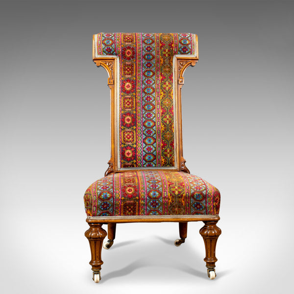 Antique Prie Dieu Chair, 19th Century, Regency, Walnut, Bedroom, Side Circa 1820 - London Fine Antiques