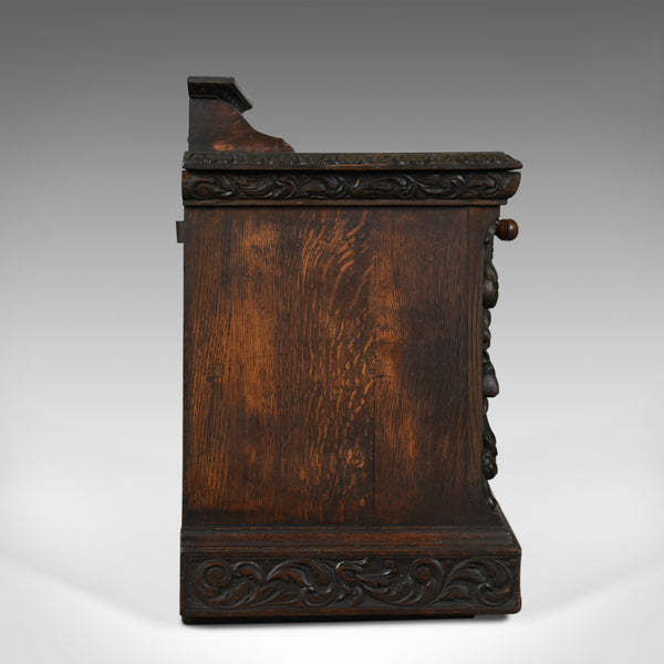 Antique Purdonium, Scottish, Oak, Coal, Fireside Log Bin, Victorian, Circa 1880 - London Fine Antiques