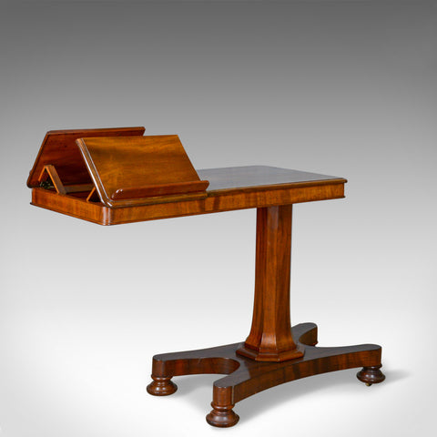 Antique Reading Table, Duet Music Stand, Manner of Gillows, Victorian Circa 1870