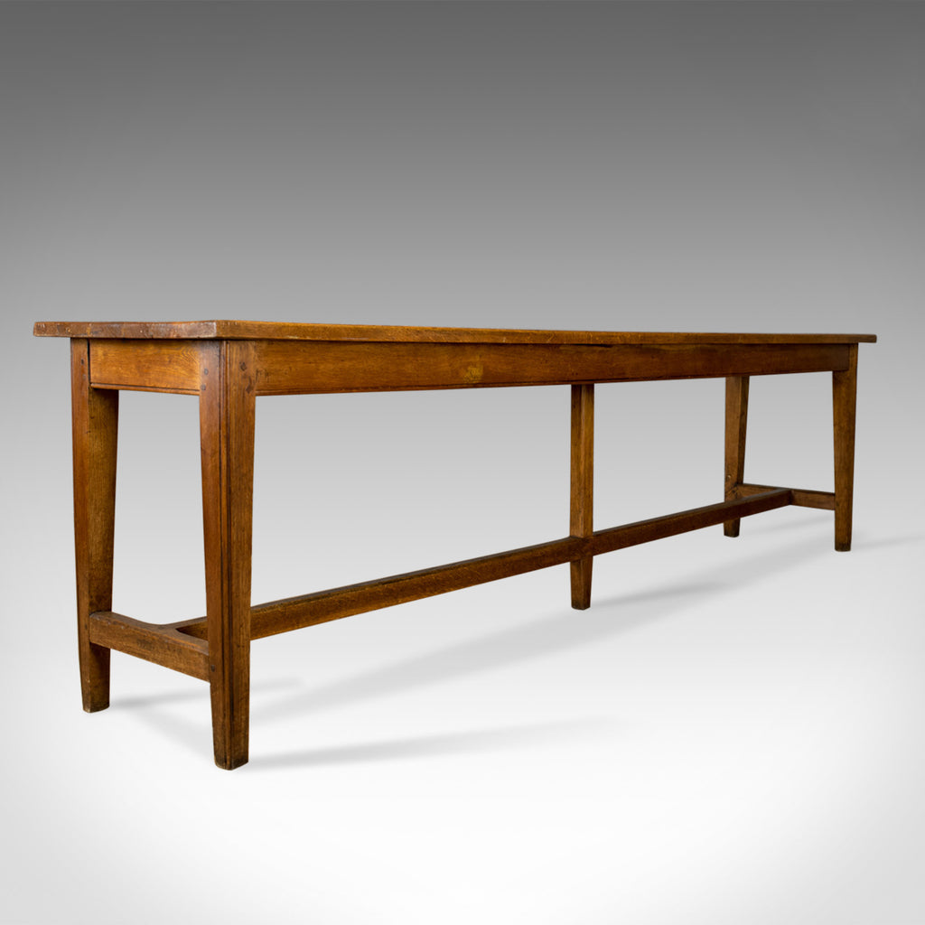 Antique Refectory Table, Victorian, Long, Narrow, Dining, Console, Oak, Circa 1880 - London Fine Antiques