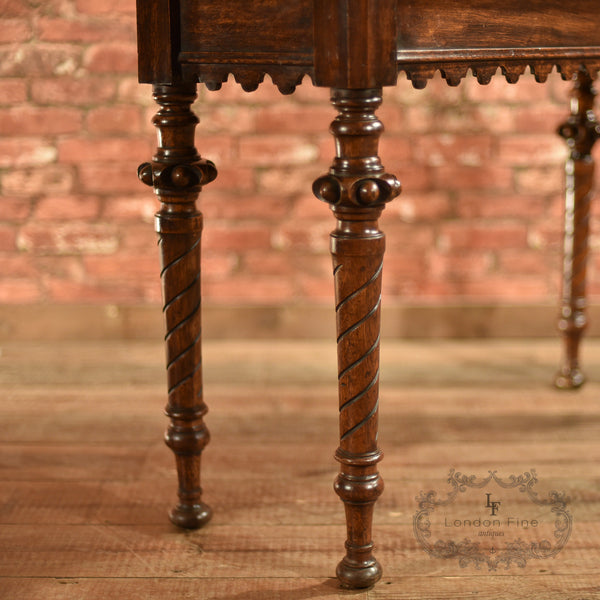 Regency Oak Console Table, c.1820 - London Fine Antiques - 6