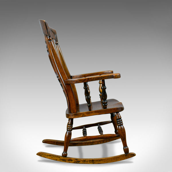 Antique Rocking Chair, Edwardian, Country Kitchen, Windsor Elbow Chair C.1910 - London Fine Antiques