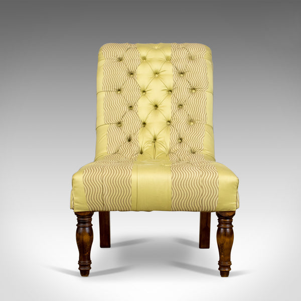 Antique Salon Chair, English, Button-Back, Bedroom, Victorian, Circa 1870 - London Fine Antiques