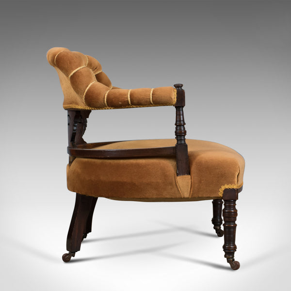 Antique Salon Chair, English, Victorian, Bedroom Armchair, Classical, Circa 1860 - London Fine Antiques