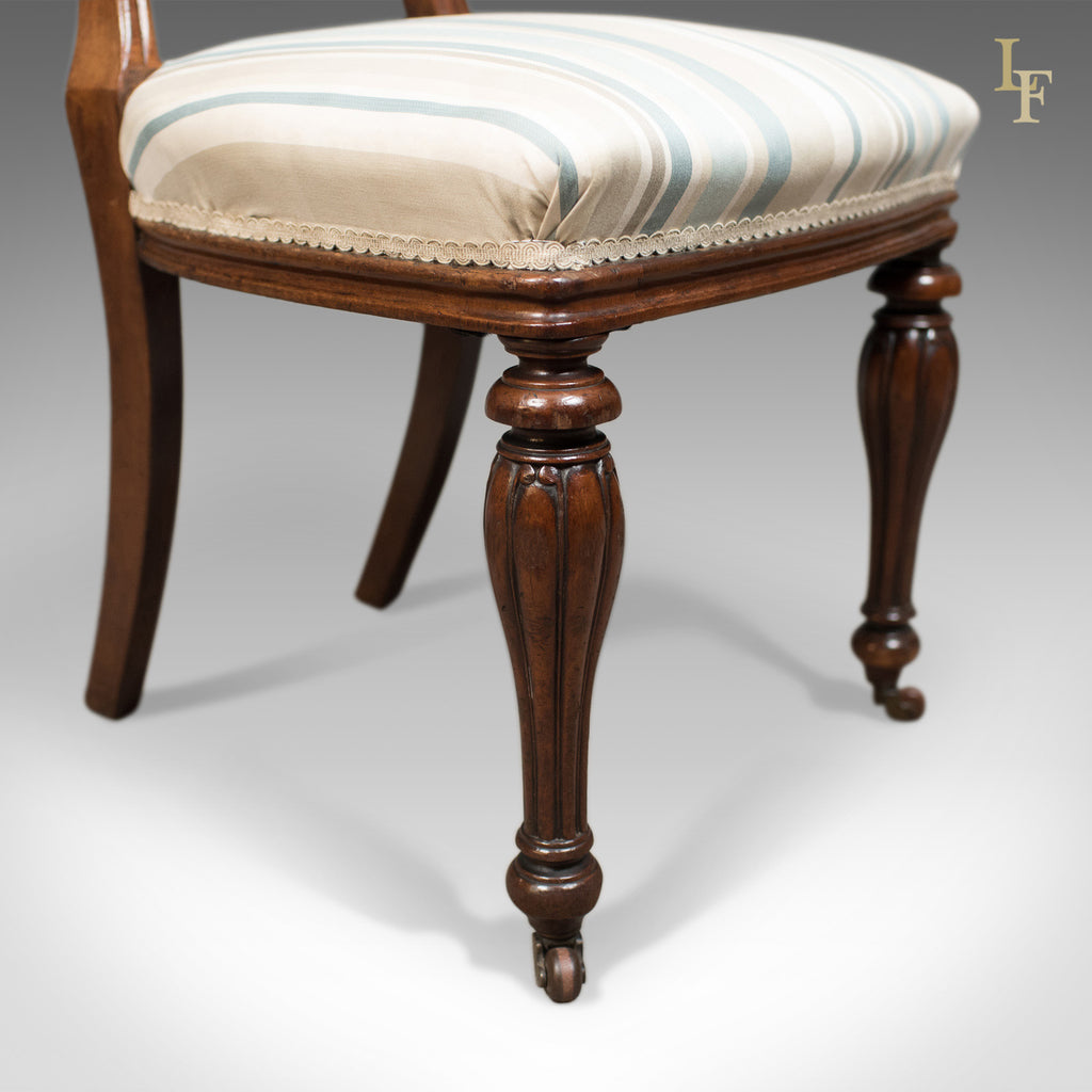 Antique Set of 4 Dining Chairs, Early Victorian Balloon ...