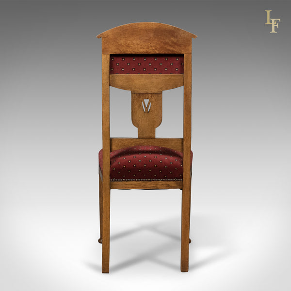 Antique Set of 4 Dining Chairs, Liberty Taste, English, Oak, Edwardian c.1910 - London Fine Antiques