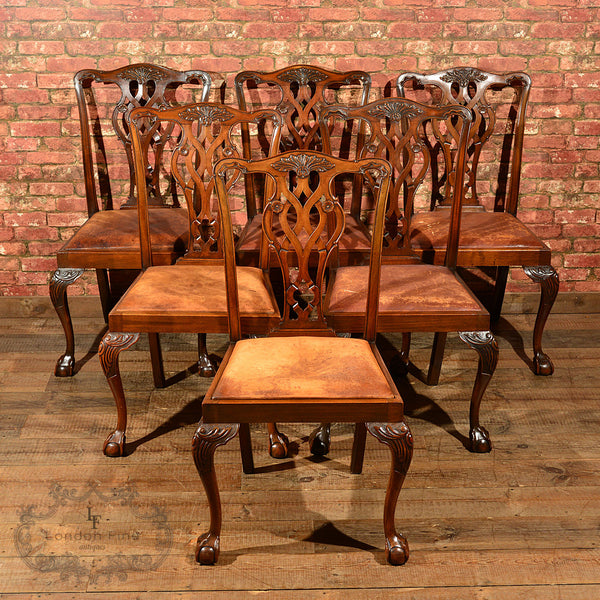 Victorian Set of Six Dining Chairs, c.1890 - London Fine Antiques - 1