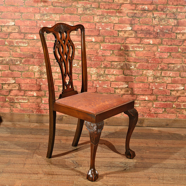 Victorian Set of Six Dining Chairs, c.1890 - London Fine Antiques - 2