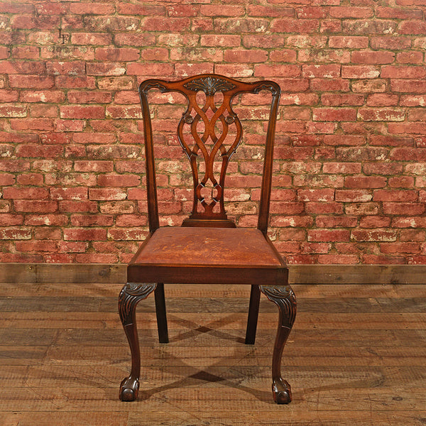 Victorian Set of Six Dining Chairs, c.1890 - London Fine Antiques - 3