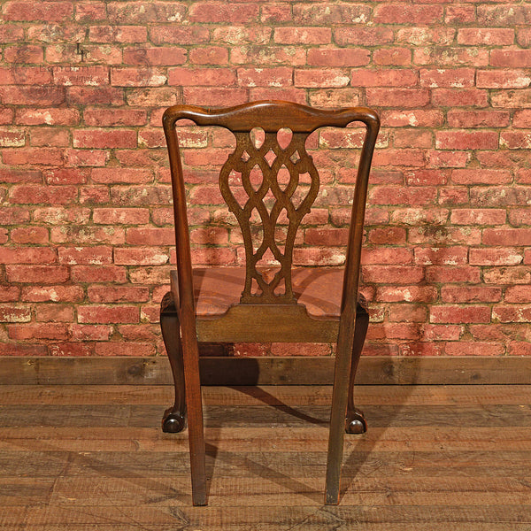 Victorian Set of Six Dining Chairs, c.1890 - London Fine Antiques - 5