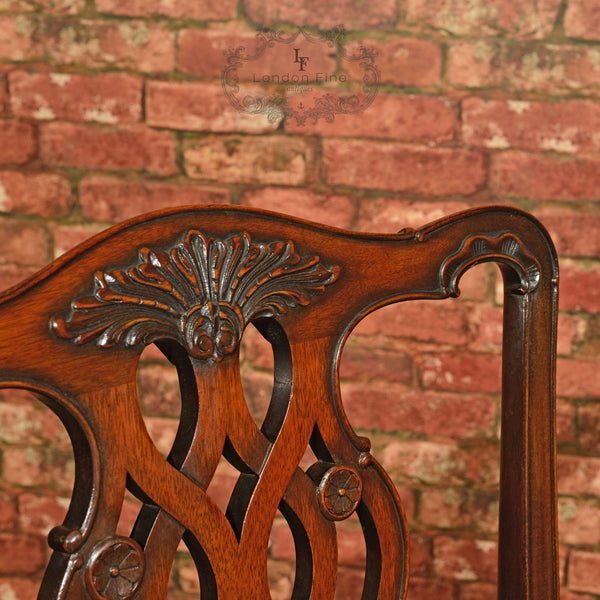 Victorian Set of Six Dining Chairs, c.1890 - London Fine Antiques - 6