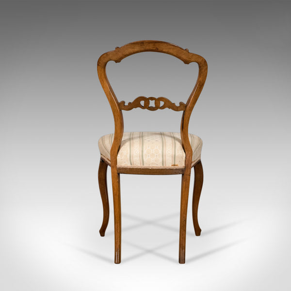 Antique Set of Four Dining Chairs, English, Victorian, Rosewood Circa 1840 - London Fine Antiques