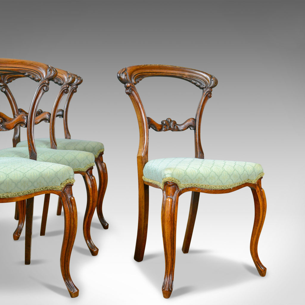 Antique Set of Four Dining Chairs, English, William IV, Rosewood, Circa 1835 - London Fine Antiques