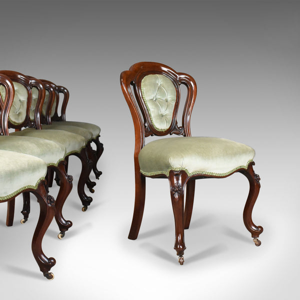 Antique Set of Six Dining Chairs, English, Regency, Mahogany, Circa 1830 - London Fine Antiques