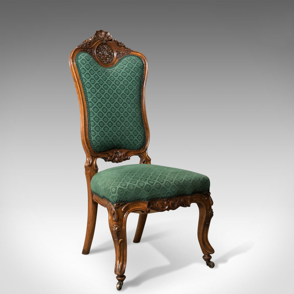 Antique Side Chair, 19th Century, Nursing, Salon, English, Walnut, Circa 1820 - London Fine Antiques
