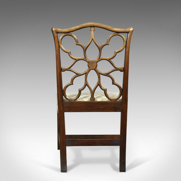 Antique Side Chair, Victorian, English, Mahogany, Chippendale Revival Circa 1900 - London Fine Antiques