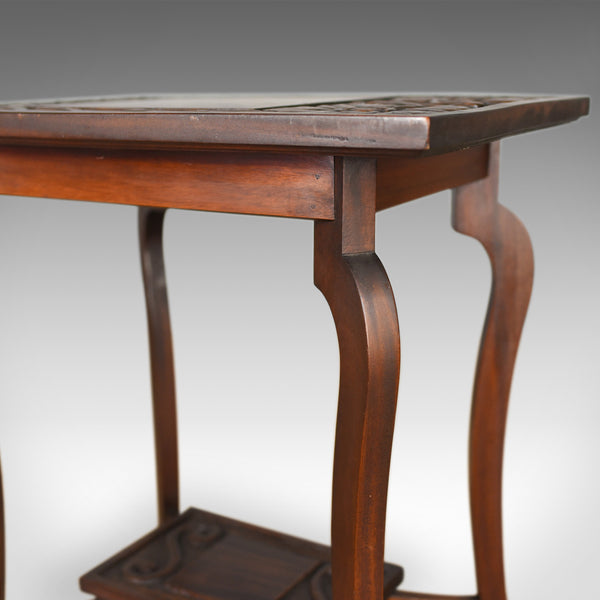 Antique Side Table, Art Nouveau Overtones, English, Mahogany, Circa 1900 - London Fine Antiques