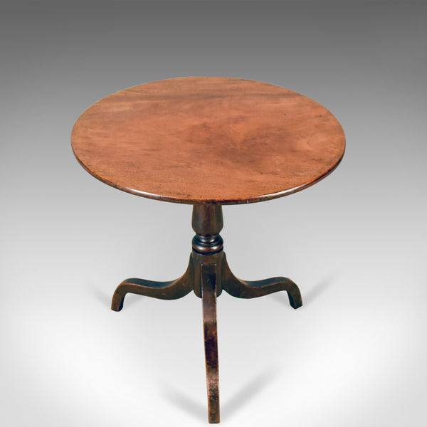 Antique Side Table, Circular, Georgian, Mahogany, Tea, English, Circa 1800 - London Fine Antiques