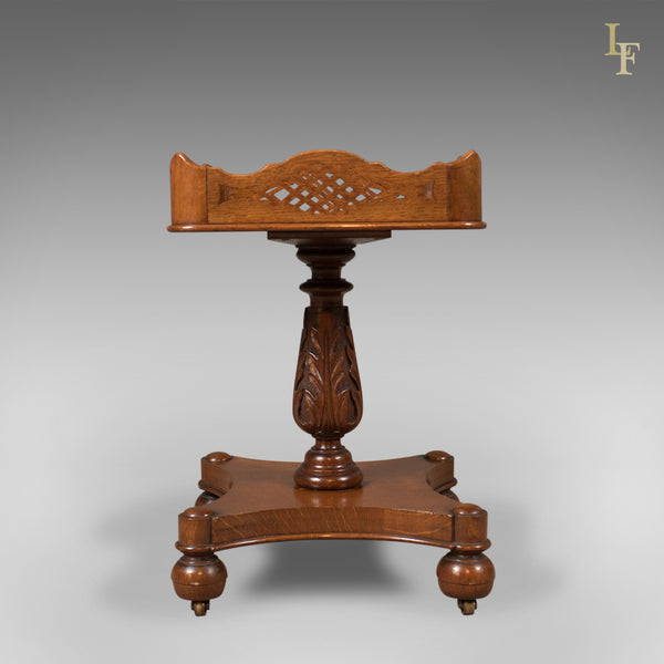 Antique Side Table, Early Victorian Decanter Stand, English c.1850 - London Fine Antiques