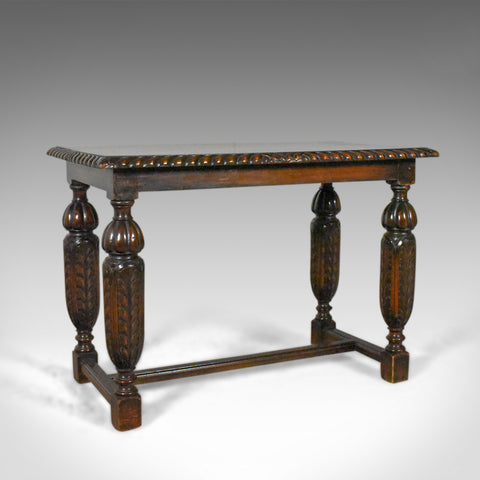 Antique Side or Coffee Table, Edwardian, Jacobean Revival, English Circa 1910 - London Fine Antiques
