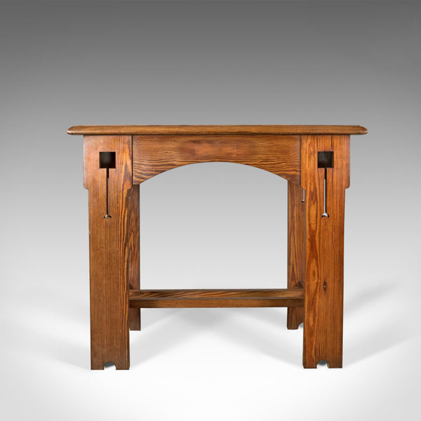 Antique Console Table, English, Arts & Crafts, Victorian, Pine, Side, Circa 1880 - London Fine Antiques