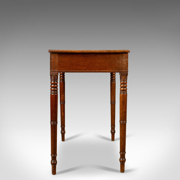 Antique Side Table, English, Georgian, Mahogany Bow Fronted Console Table c.1800 - London Fine Antiques