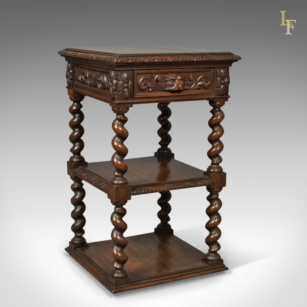 Antique side table murphy english oak stand whatnot c