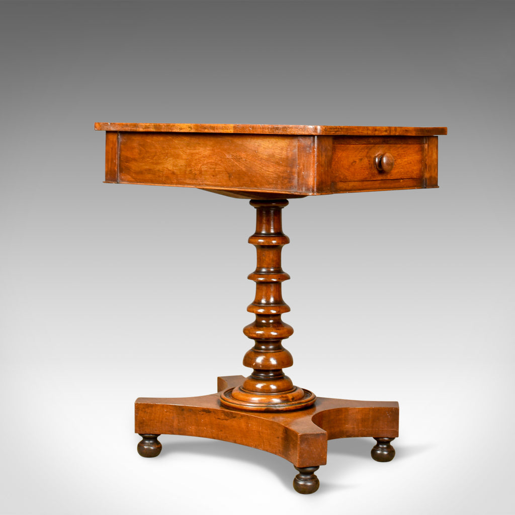Antique Side Table, English, Regency, End Table, Mahogany, Satinwood Circa 1820 - London Fine Antiques