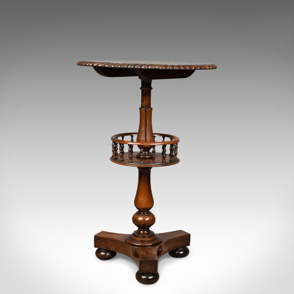 Antique Side Table, English, Victorian, Rosewood, Walnut, Occasional, Circa 1860 - London Fine Antiques