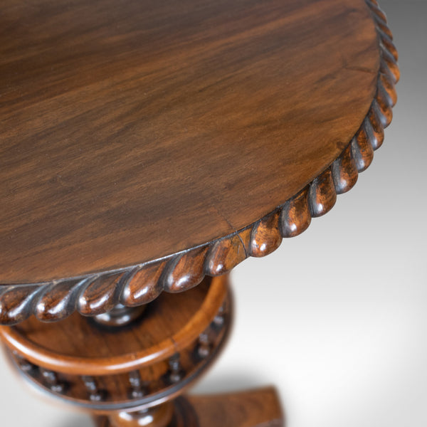 Antique Side Table, English, Victorian, Rosewood, Walnut, Occasional, Circa 1860