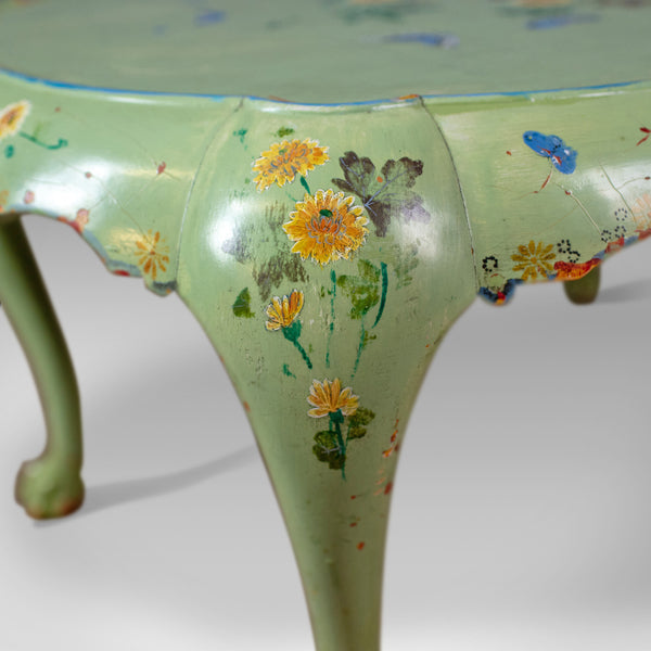 Antique Side Table, French, Country, Hand Painted, Coffee, Early 20th Century