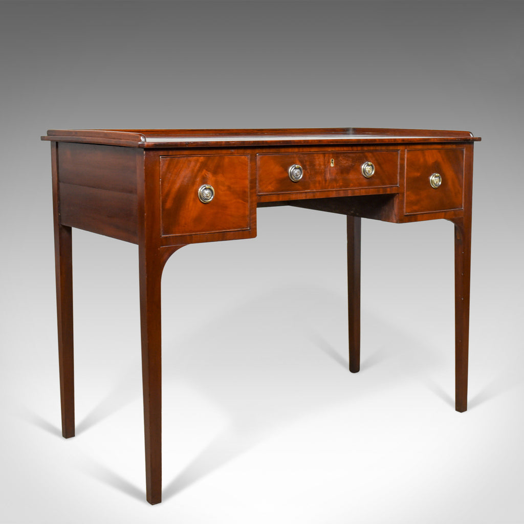 Antique Side Table, Mahogany, English, Writing Desk, Late Georgian, Circa 1800 - London Fine Antiques