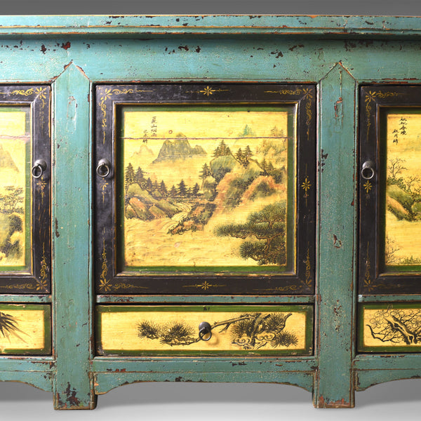 Vintage Sideboard, Chinese Painted Buffet, 19th Century Revival, Mid/Late C20th - London Fine Antiques