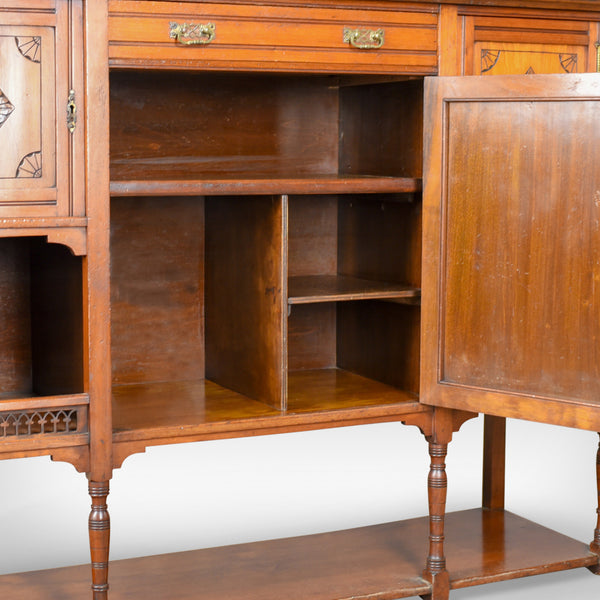 Antique Sideboard, English, Edwardian, Chiffonier, Walnut, Tall, Circa 1910 - London Fine Antiques