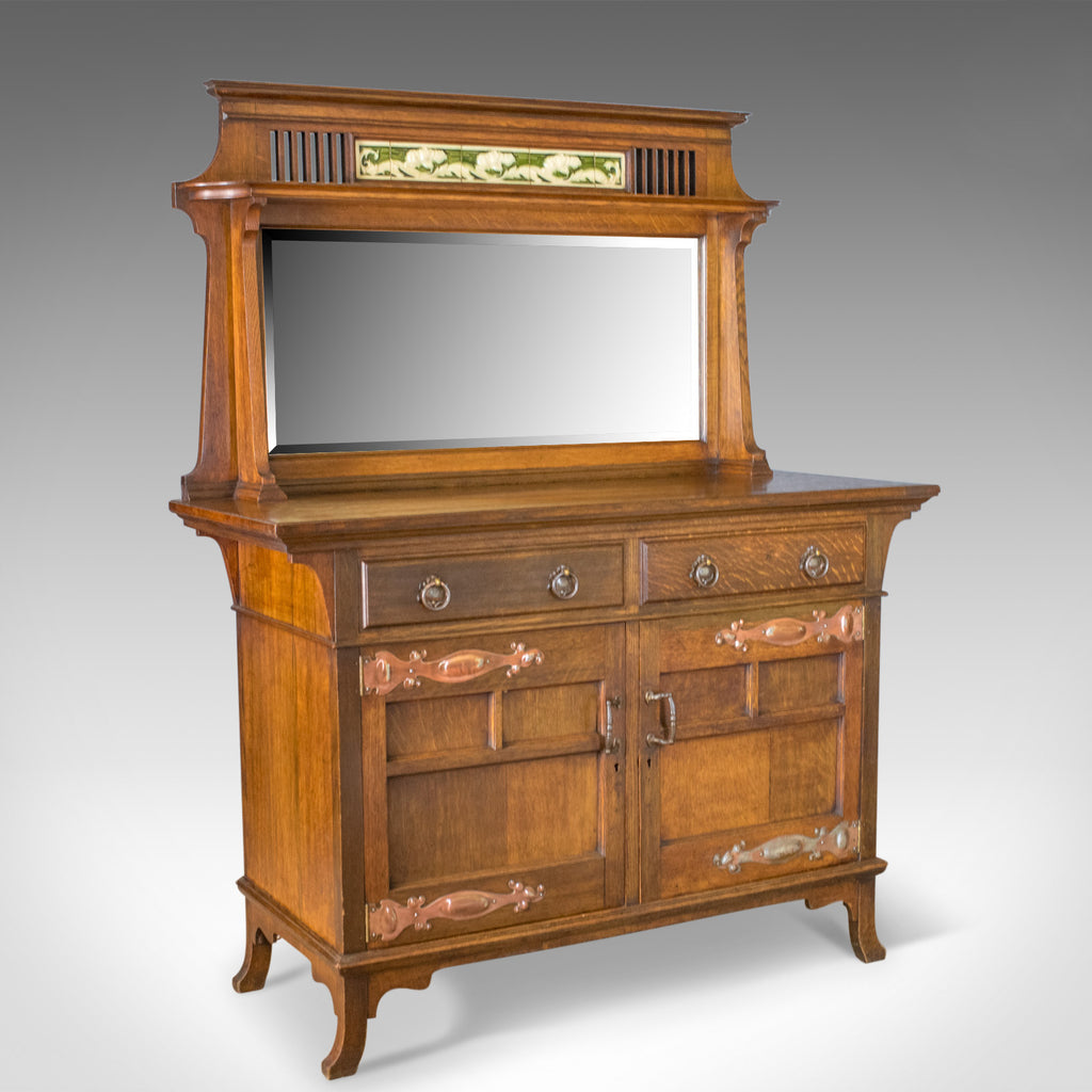 Antique Sideboard, English Oak, Arts & Crafts Cabinet, Liberty Taste, Circa 1900 - London Fine Antiques