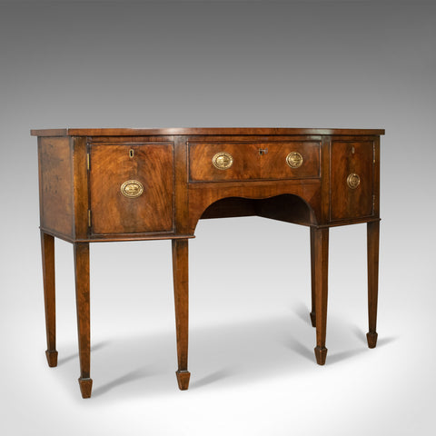 Antique Sideboard, English, Regency Revival Server, Mahogany, Victorian, c.1890