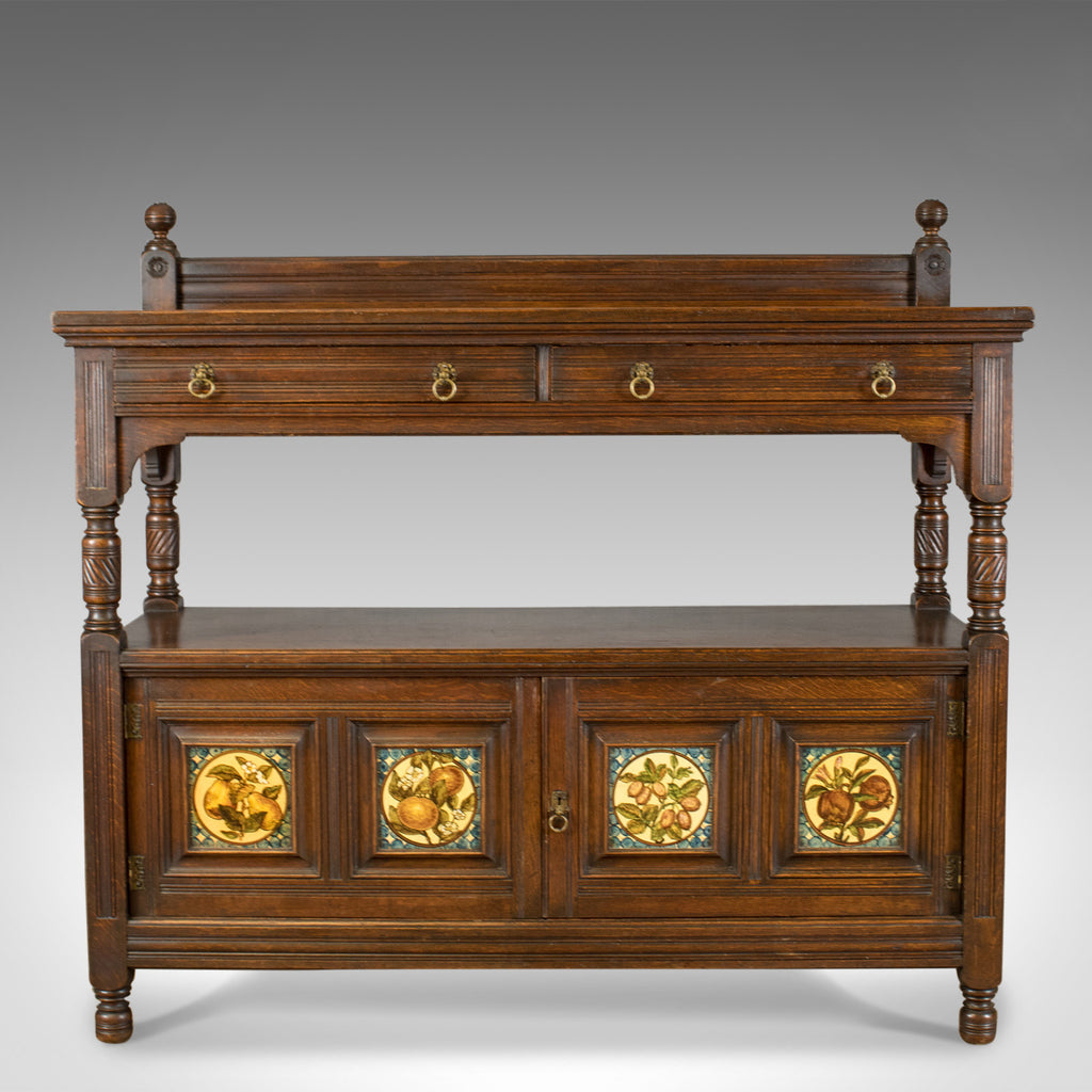 Antique Sideboard, Gillow & Co, Oak, Arts and Crafts Buffet Cabinet, Circa 1890 - London Fine Antiques