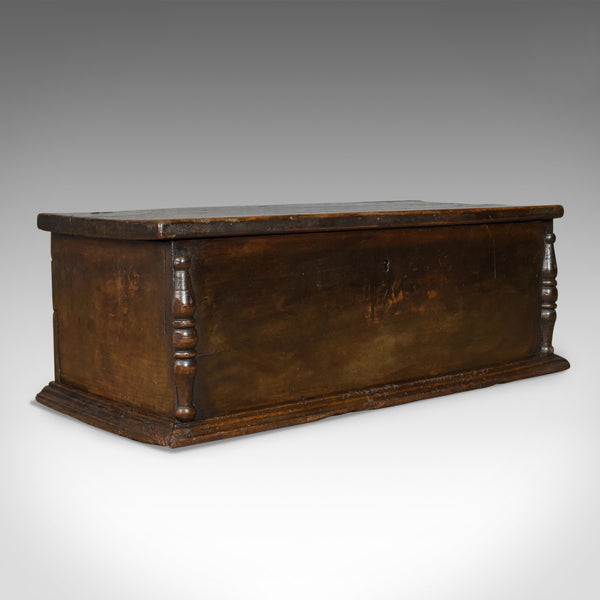 Antique Six Plank Coffer, English Oak Sword Chest, Charles II Trunk Circa 1680 - London Fine Antiques