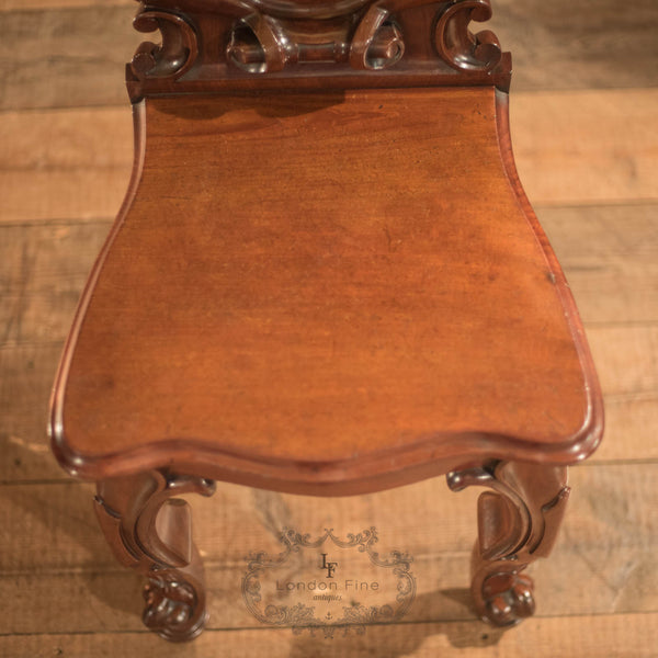 Victorian Solid Shield Back Hall Chair, c.1880 - London Fine Antiques
