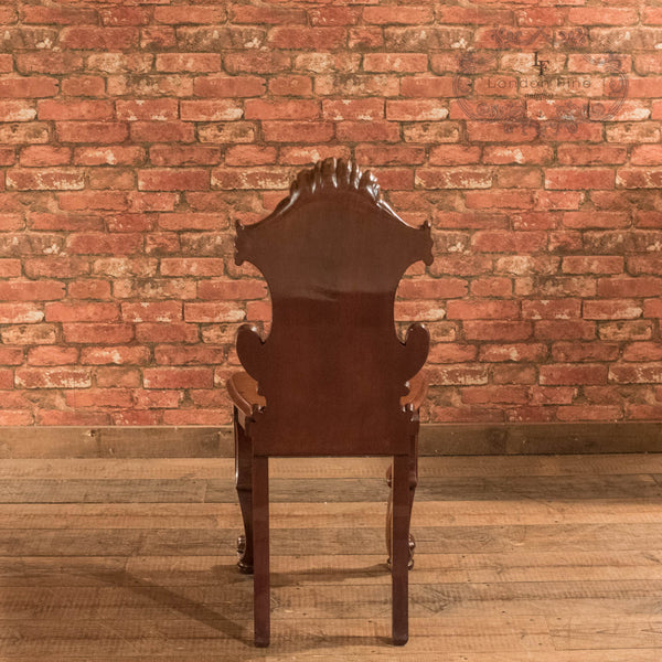 Victorian Solid Shield Back Hall Chair, c.1880 - London Fine Antiques - 4