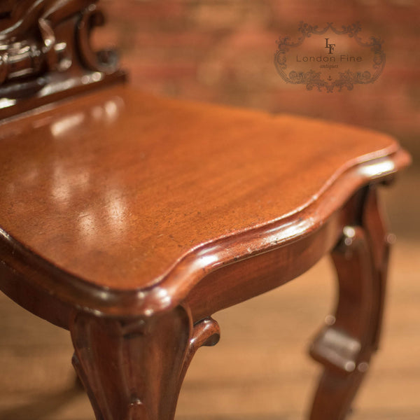 Victorian Solid Shield Back Hall Chair, c.1880 - London Fine Antiques - 7
