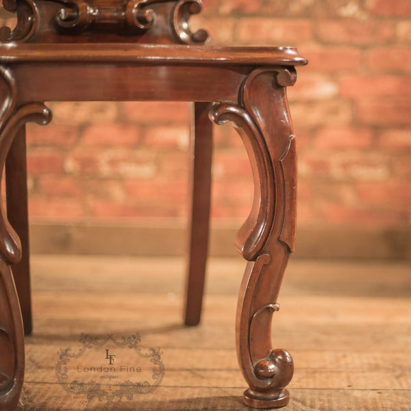 Victorian Solid Shield Back Hall Chair, c.1880 - London Fine Antiques - 8