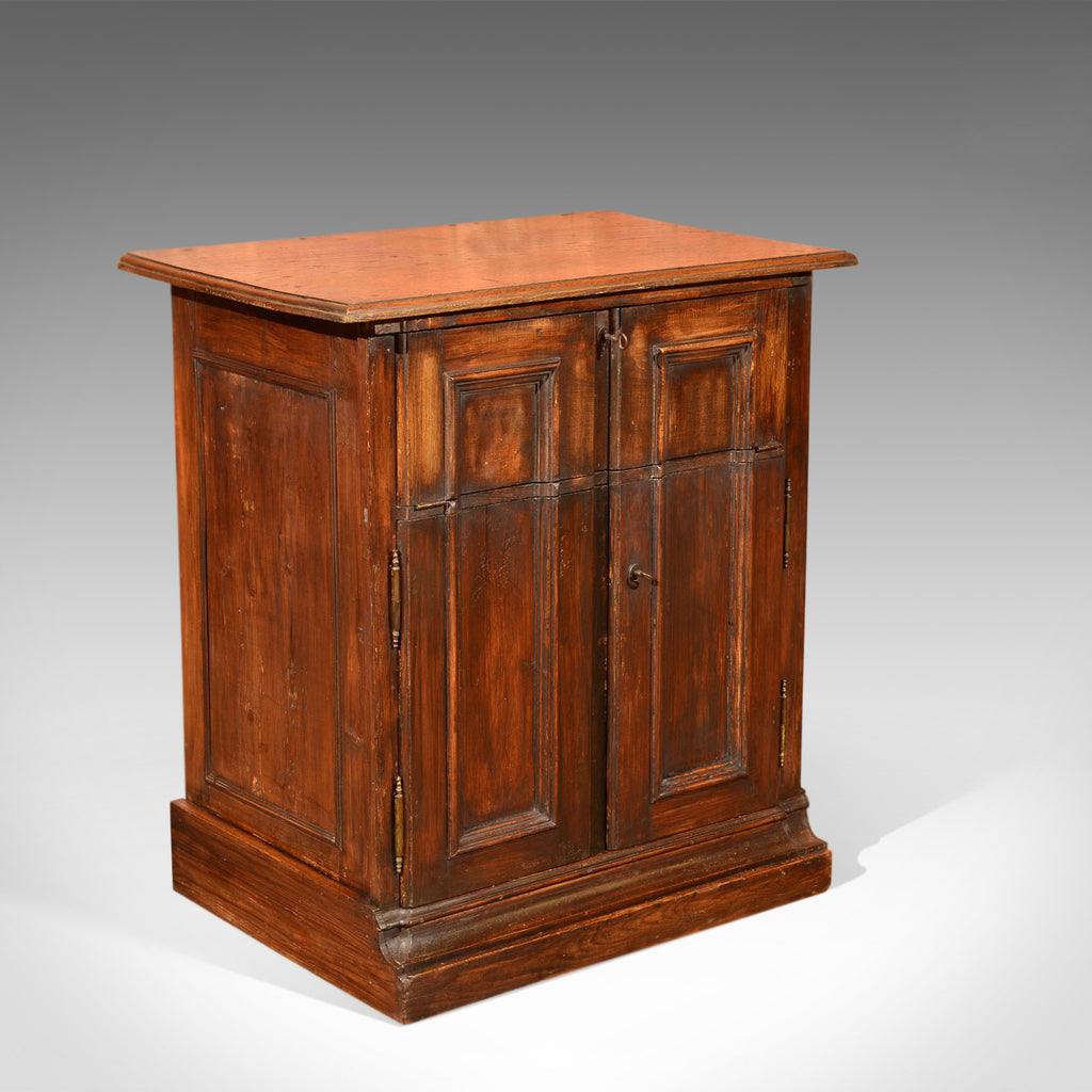 Antique Specimen Cabinet, French Oak Cupboard, Secretaire, Desk Circa 1850 - London Fine Antiques