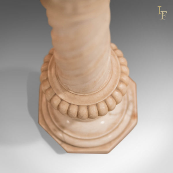 Antique Stand, Alabaster Marble Torchere - London Fine Antiques