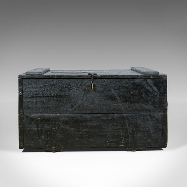 Antique Steamer Trunk, Wildman, British Vice-Consulate, Chile, Ships Chest c1919 - London Fine Antiques